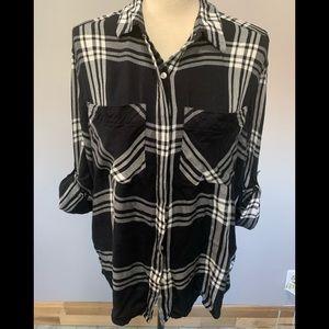 Plaid Boyfriend Flannel Shirt
